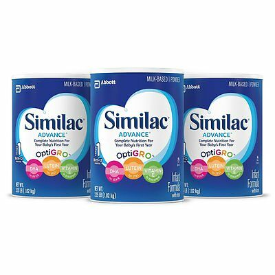 Similac Advance Infant Formula with Iron Powder 36 Ounce (Pack of 3)