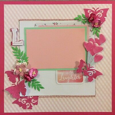 handmade scrapbook page 12 X 12 L Is For Laughter Themed Layout