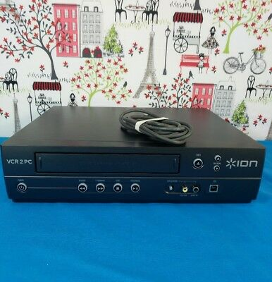 ION Audio VCR 2 PC USB VHS Video to Computer Converter - Cleaned & Serviced