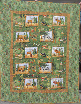 Wildwood Quilt Panels with Borders  60x74