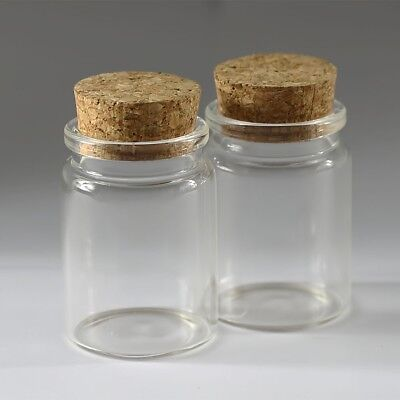 1/3/5Pcs 35ml (37*50mm)Clear Empty Vials Glass Bottles with Corks Jars  bottle