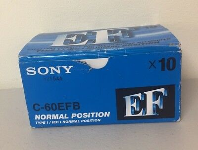 Sony EF 60 Blank Cassette Tapes Pack Of 10