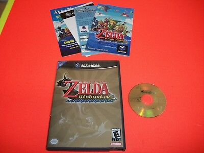 Legend of Zelda: The Wind Waker (Nintendo GameCube, 2003) Complete with inserts.