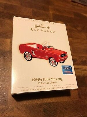 Hallmark Christmas Ornament - 1964-1/2 FORD MUSTANG Kiddie Car Classics NEW 2006
