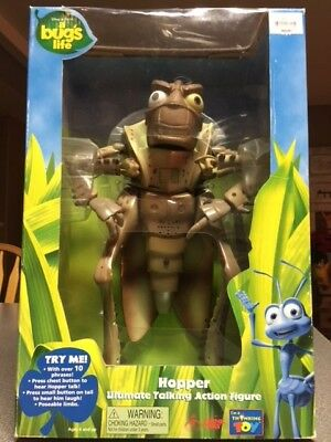 Disney Pixar Hopper Ultimate Talking Action Figure from 'A Bugs Life' Unopened