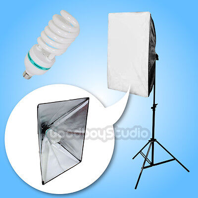 500W 50x70cm Photography Continuous Lighting Stand Softbox Kit Set 220V-240V #21