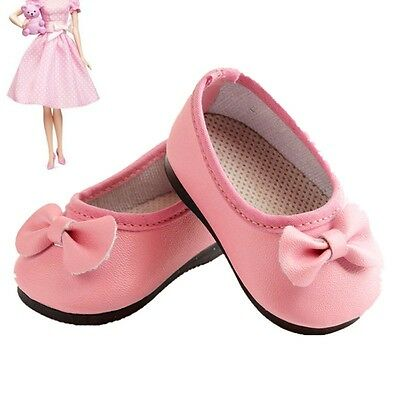 Handmade Fashion NEW Pink Boot Shoes For 16inch Kids Doll Party