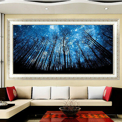 Forest Blue Sky 5D Diamond Embroidery Painting DIY Cross Stitch Craft Wall UKLQ