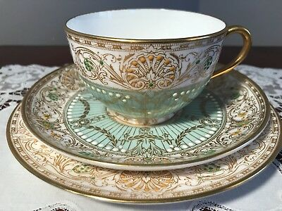 Beautiful Royal Worcester Hand Decorated Trio