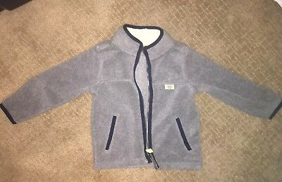 Good Condition~ Toddler Boy's Grey Fleece Zip Up Jacket by Carter's, Size 2T