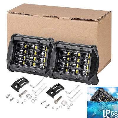 2x 4INCH 72W CREE Led Work Light Bar Flood Driving Fog For Offroad Truck SUV