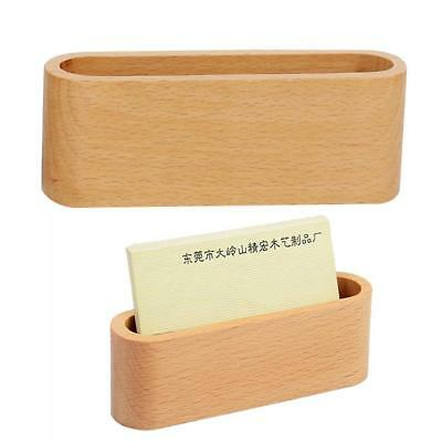 Card Holder Display Device Card Stand Holder Wooden Orga Business Desk Use S0W9