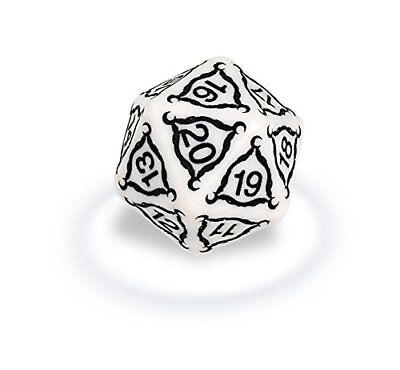 Ultra Pro Titan 20-Sided Jumbo Dice - 40mm, Ivory with Black Numbering