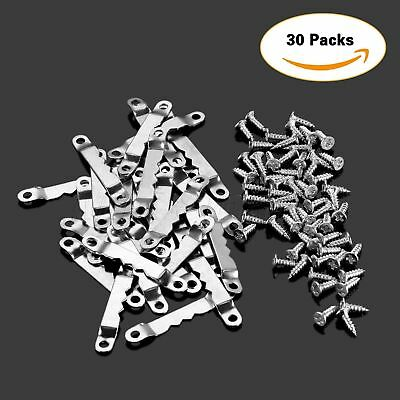 Silver Hanging Hook 30Pcs Saw Tooth Picture Frame Hanger & 60 Screws 42.4×6.4mm