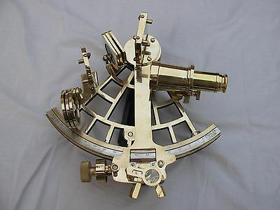 Nautical Maritime Brass Sextant~Working Marine Sextant Vintage Collectible 9""