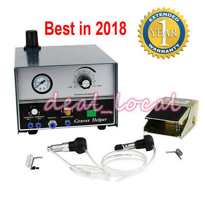 Pneumatic Engraving Machine Jewelry Engraver Double Ended 220V 80W Graver Tool