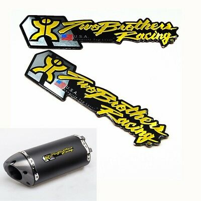 2pcs Motorcycle Exhaust Pipes Sticker Two Brother Aluminium Heat-Resistant
