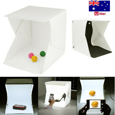 Photo Studio 40CM LED Lighting Tent Kit Portable Folding Light Box 1pcs Backdrop