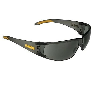 DeWalt ROTEX SMOKE LENS SAFETY GLASSES Flexible Temples, Ultra Lightweight Frame