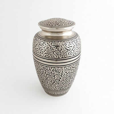 """Cremation Urn for Adults Size Large 10.5"""" - Beautiful detailed urn for ashes"""