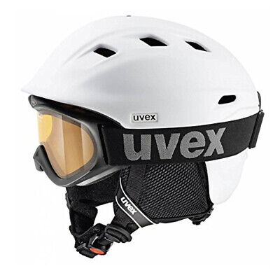 UVEX Skihelm Comanche 2 Set white matt 59-61