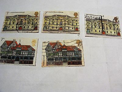 Gb European Architectural Heritage Year 1975 Stamps