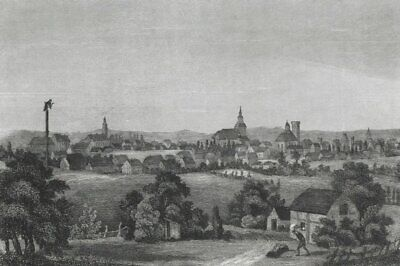 USEDOM - Schloss Stolpe - Stahlstich um 1840