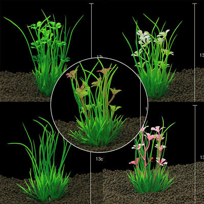 13cm Artificial Plastic Water Plants Aquarium Decoration for Fish Tank Aqu Uskt