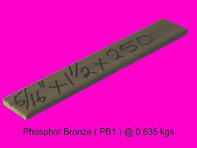 "Bronze Flat Bar 5/16"" x 1.5"" x  250 mm-Lathe-Mill-Drill"