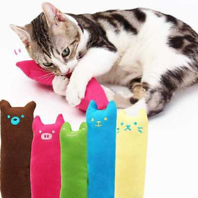 Creative Pet Funny Toys Pillow Scratch Crazy Cat Kicker Catnip Teeth Grind Uskt