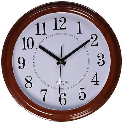 Large 13 Inch Wall Clock Silent Indoor Battery Powered Analog Office Home School