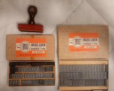 Base-Lock Rubber Type Rubber Stamp In Box -  For Hand Stamps Numbers