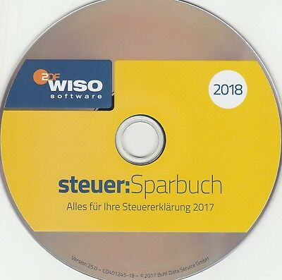 wiso steuer sparbuch 2018 f r steuerjahr 2017 mit cd und. Black Bedroom Furniture Sets. Home Design Ideas