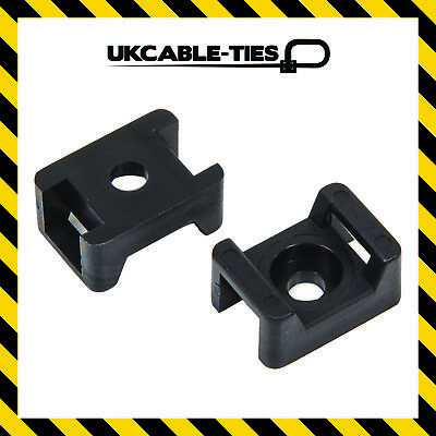 Cable Tie Saddles Cradles Mounts Bases Black Natural Wire Clips Clamps Wire