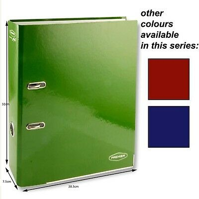 A4 Coloured Lever Arch Files Folders 75mm Stationery Metal Document Storage