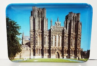 Souvenir Melamine Plastic Dish / Plate / Tray UK England WELLS CATHEDRAL