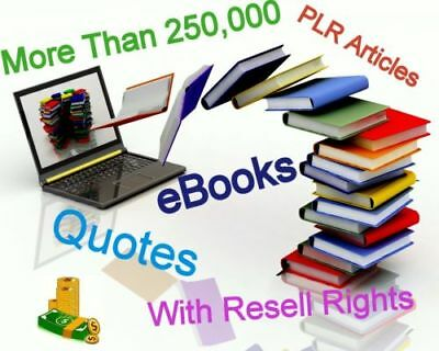 PDF 2,000+ eBooks Collection and Articles |with Master Resell Rights free ship
