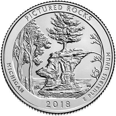 "2018 Pictured Rocks Nat Lakeshore Mi ""p&d"" Mint Set Available Now"