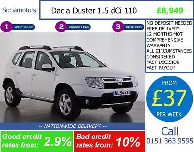 Dacia Duster 1.5 dCi 110 Laureate 5dr GOOD / BAD CREDIT CAR FINANCE AVAILABLE