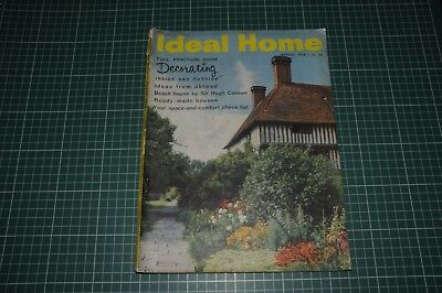 Ideal Home Magazine August 1958 - Vintage Adverts Crafts DIY Decorating Guide