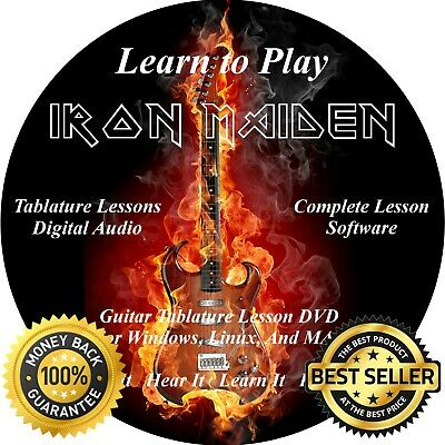 IRON MAIDEN GUITAR & Bass TABS Lesson CD + Backing Tracks + BONUS