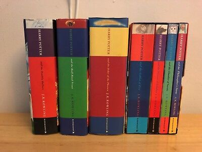 Harry Potter  1-7 PAPERBACK BOX SET/HARDCOVER BOOKS Bloomsbury UK Edition