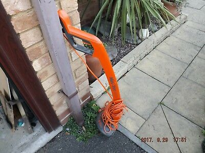 Electric garden strimmer used