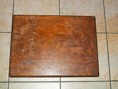 Antique Singer Treadle Sewing Machine Cabinet Top Needs Work - 1909 - Tiger Oak