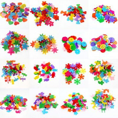 100Pcs/Lot Random Mixed Color Multi Shapes Felt Patch Applique Felt Scrapbooking