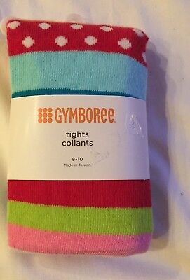 Gymboree NWT M 8-10 Tights Fall Winter  New Multi Color Red