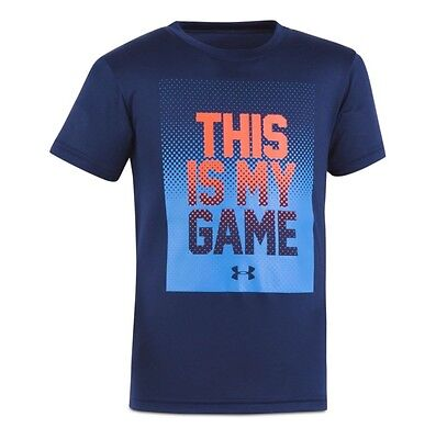 Under Armour Boy's This Is My Game Tee ‑ Little Kids, Navy, Size: 3T
