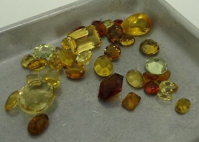 mixed lot of natural Citrine 62.67ct Genuine Loose Gemstones NR