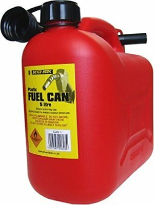 S STYLE Leaded Petrol Can & Spout Red 5 Litre (N1R)