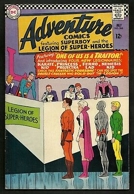 Adventure Comics 346 (Lot of 2) 1st Karate Kid, Princess Projecta, Ferro Lad DC